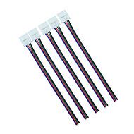 5pcs 10mm 4pin RGB LED strimmel stik wire klip kabel til 5050 RGB LED bånd