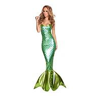 Costumes de Cosplay / Costume de Soirée Sirène Fête / Célébration Déguisement Halloween Vert / Vert foncé Vintage Collant/Combinaison