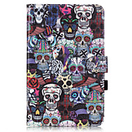 PU Leather Material Skull Embossed  Pattern Tablet Sleeve for Galaxy Tab T550/T560