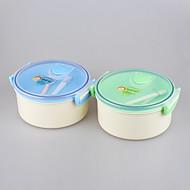 marca yooyee forma mejor ronda de la capa doble / doble compartimento para microondas con aislamiento fiambrera