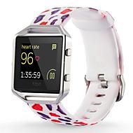 Rød / Grøn / Pink Silicone Sportsrem For Fitbit Ur 23mm