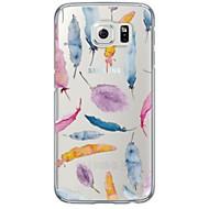 For Samsung Galaxy S7 Edge Transparent Mønster Etui Bagcover Etui Fjer Blødt TPU for Samsung S7 edge S7 S6 edge plus S6 edge S6 S5 S4