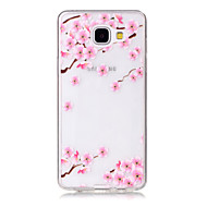 TPU Material Plum Flower Pattern Painted Relief Phone Case for Samsung Galaxy A510/A310