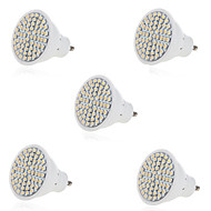 5pcs 5W 2835X60SMD GU10/MR16 Warm Cool White Color Plastic Shell LED Spot Lights(AC220-240V)