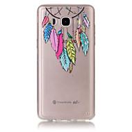 Kompatibilitás Samsung Galaxy tok tokok Átlátszó Dombornyomott Hátlap Case Álomfogó Puha Hőre lágyuló poliuretán mert SamsungJ7 (2016) J5