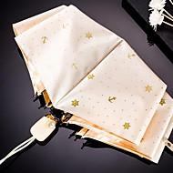 MS. 고급 브론 징 앵커 타 신선한 바람 맑은 우산 자동 트리플 골드 플라스틱 자외선 태양 그늘 우산
