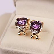 Γυναικεία Κουμπωτά Σκουλαρίκια Κρυστάλλινο Μοντέρνα Ασήμι Στερλίνας Ζιρκονίτης Cubic Zirconia Oval Shape Κοσμήματα Για Καθημερινά Causal