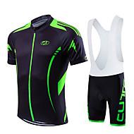 Sportowy Rower/Kolarstwo Koszulka + spodenki z szelkami / Zestawy odzieży/Garnitury Męskie / Uniseks Z krótkim rękawemOddychający / Quick