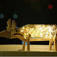 1pc kreative führte Bureaux Lampe Originalität Nachttischlampe holzig Anzeige von Feuerwerk und ein Meer von Laternen Nachtlicht
