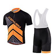KEIYUEM Cykel/Cykelsport Klädesset/Kostymer Unisex Kort ärmVattentät / Andningsfunktion / Snabb tork / Regnsäker / Vattentät dragkedja /