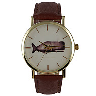 Unisex Dress Watch Fashion Watch Water Resistant / Water Proof Quartz PU Band Casual Brown