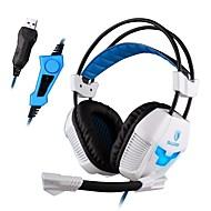 Sades A30S ヘッドホン(ヘッドバンド型)Forメディアプレーヤー/タブレット / コンピュータWithマイク付き / DJ / ボリュームコントロール / FMラジオ / ゲーム / スポーツ / ノイズキャンセ / Hi-Fi
