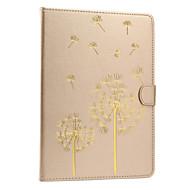 För Korthållare Läderplastik Magnet fodral Heltäckande fodral Maskros Hårt PU-läder för Apple iPad Air 2