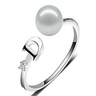 Pierścionki dla par Pierścionki na palec środkowy Duże pierścionki Perła Perłowy Srebro standardoweprzejście Modny Korygujący Godny