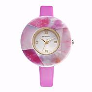 REBIRTH Dame Moteklokke Armbåndsur / Quartz PU Band Fritid Elegante klokker Hvit Blå Rosa Lilla Beige Rose