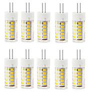 6W G4 LED-lamper med G-sokkel T 33 SMD 2835 400-500 lm Varm hvid Kold hvid Dekorativ Vandtæt Vekselstrøm 220-240 V 10 stk.
