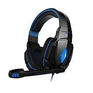 gaming hodetelefoner G4000 stereo støydempende gaming headset mic hifi driver LED lys for pc
