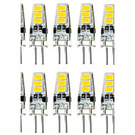 10PCS G4 6LED SMD5733 DC12V 300-400LM Warm White/White Decorative /WaterproofLED Bi-pin Lights