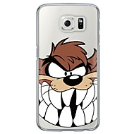tegneserie ulv mønster bløde ultra-tynde TPU Bagcover til Samsung Galaxy S7 kant s7 s6 kant s6 kant plus s6 s5 s4
