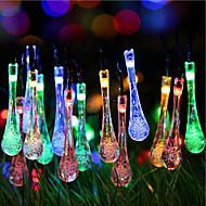 Solarweihnachtsbeleuchtung Wassertropfen 13ft 20 wasserdichte Solarlichterkette im Freien für den Garten führte, Hochzeit, Weihnachtsbaum