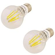 youoklight 2db e27 6W 6 * vezetett 550lm 3000K meleg fehér Edison izzók led izzólámpát (85-265v)