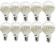 5W E26/E27 LED-globlampor A60(A19) 9 SMD 5630 400 lm Varmvit / Kallvit Dekorativ AC 220-240 V 10 st