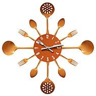 Inovador Moderno/Contemporâneo Relógio de parede,Comida e Bebida / Família Aço Inoxidável 16 inch