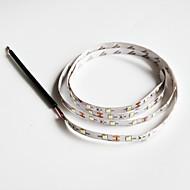 z®zdm 100cm 2w 60x3528smd lumière blanche lampe led de bande pour la voiture (12v dc)