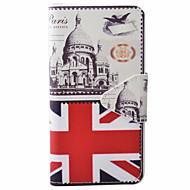Mert Samsung Galaxy tok Kártyatartó / Pénztárca / Állvánnyal / Flip / Dombornyomott / Minta / Mágneses Case Teljes védelem Case Zászló