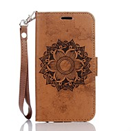 Mandala Embossed Leather Wallet for Samsung Galaxy J3 J3(2016) J5 J5(2016)
