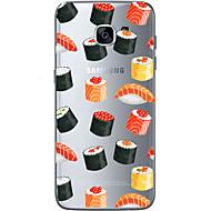 Varten Samsung Galaxy S7 Edge Kuvio Etui Takakuori Etui Sydän Pehmeä TPU Samsung S7 edge / S7 / S6 edge plus / S6 edge / S6