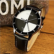 YAZOLE Women's Fashion Watch Casual Watch Casual Watch Quartz Leather Band Black White Red Strap Watch