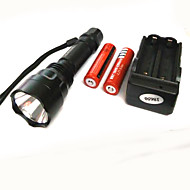 Lights LED Flashlights/Torch LED 500 Lumens 4 Mode Cree XP-E R2 18650 Super Light Camping/Hiking/Caving Aluminum alloy