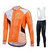 Sport® Cykeltröja med Bib-tights Dam / Herr / Unisex Lång ärmAndningsfunktion / Snabb tork / Fuktgenomtränglighet / Svettavvisande / 3D