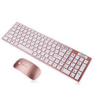 Ultra Slim Thin Design 2.4GHz Wireless Keyboard With Mouse Mice Kit for Desktop Laptop PC Computer Keyboard Set