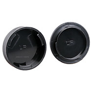dengpin couvercle de lentille arrière + caméra chapeau de corps pour leica r3 r4 r5 r6 r7 r8 r9
