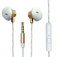 Maoke M8 In-Ear Earphone Stereo Bass 3.5mm Braided Wired Metal headphone with Microphone for iPhone Samsung etc