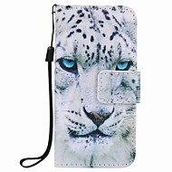 White Leopard Painting PU Phone Case for apple iTouch 5 6