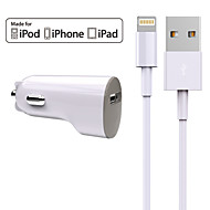 Charger Kit Car Charger Other 1 USB Port with Cable For iPad For iPhone(5V  2.4A)