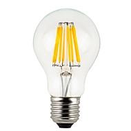 8W E26/E27 LED Küre Ampuller A60(A19) 8 COB 780 lm Sıcak Beyaz Kısılabilir / Su Geçirmez V 1 parça