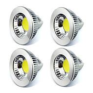 5W GU5.3(MR16) LED-spotlys MR16 1 COB 450 lm Varm hvid / Kold hvid Dekorativ V 4 stk.