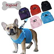 Cães Arreios Retratável / Respirável Sólido Vermelho / Preto / Azul / Rosa / Púrpura Com Transparência