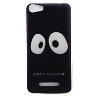 Til wiko lenny3 lenny2 telefon case cover store øjne mønster malet tpu materiale til wiko du føler dig føler lidt solrig jerry