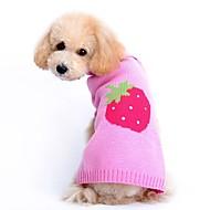 Gatos / Perros Suéteres Rosado Ropa para Perro Invierno / Primavera/Otoño Fruta Adorable / Casual/Diario