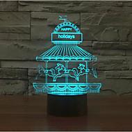 Vergnügungspark Touch Dimm 3D LED-Nachtlicht 7colorful Dekoration Atmosphäre Lampe Neuheit Beleuchtung Weihnachtslicht