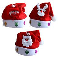 3pcs / lot presentes do Natal Natal chapéus miúdos chapéu criança parágrafo decalques desenhos animados tampões do Natal crianças cap