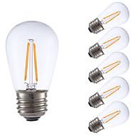 2W E26 LED Filament Bulbs S14 2 COB 200 lm Warm White Dimmable 120V 6 pcs