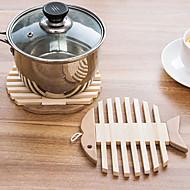 Pyöreä Patchwork Coasters , Bambu materiaali Hotel ruokapöytä / Taulukko Dceoration 1
