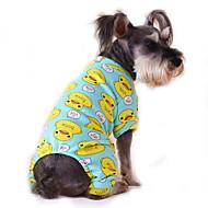 Gatos Perros Mono Pijamas Ropa para Perro Invierno Primavera/Otoño Caricaturas Adorable Casual/DiarioAmarillo Rojo Azul Rosa