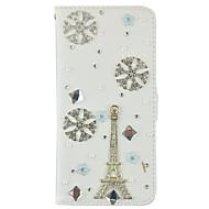 Mert Pénztárca / Kártyatartó / Strassz / Állvánnyal / Flip Case Teljes védelem Case Eiffel torony Kemény Műbőr SamsungS7 edge / S7 / S6